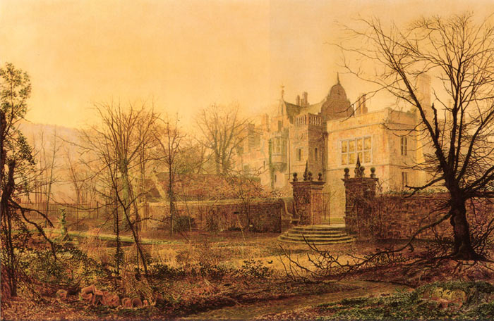 Knostrop Hall, Early Morning, 1870  Painting Reproductions