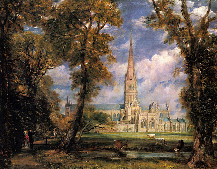 Salisbury Cathedral from the Bishops' Grounds, 1823 Constable, John Painting Reproductions