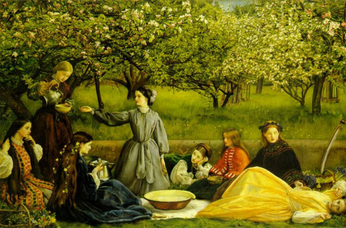 Apple Blossoms (Spring),  1856-1859  Painting Reproductions