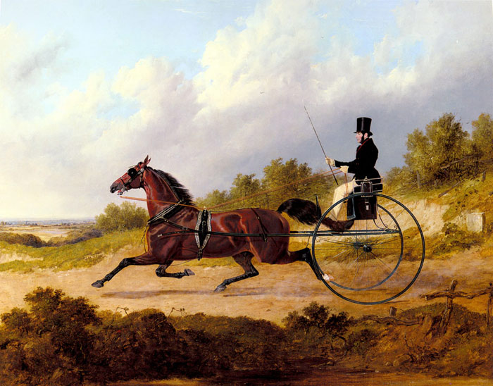 The Famous Trotter Confidence Drawing A Gig, 1842  Painting Reproductions