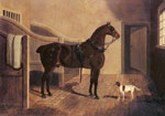 A Favorite Coach Horse and Dog in a Stable, 1822 Art Reproductions