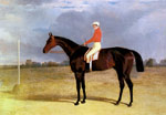 A Dark Bay Racehorse with Patrick Connolly Up, 1833 Art Reproductions