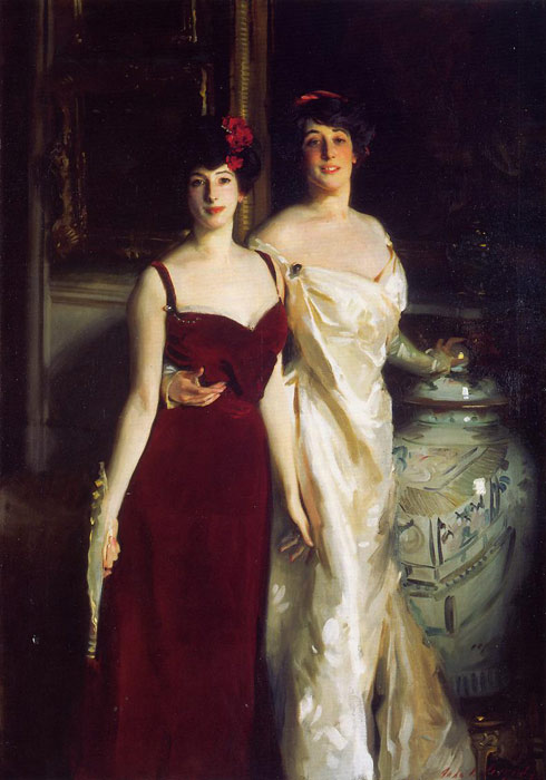 Ena and Betty, Daughters of Asher and Mrs. Wertheimer , 1901	  Painting Reproductions