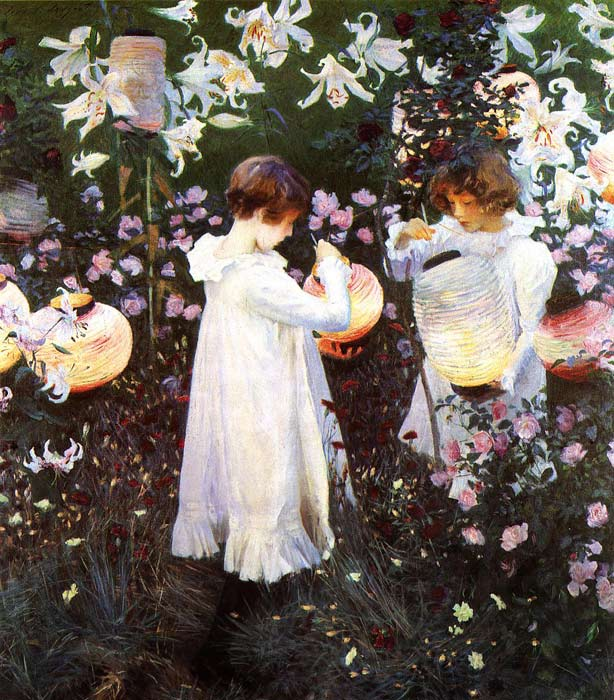 Carnation, Lily, Lily, Rose, 1885	  Painting Reproductions