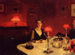 Sargent, John Singer A Dinner Table at Night, 1884 Art Reproductions