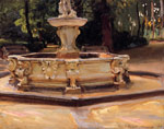 7491 A Marble Fountain at Aranjuez, Spain , 1912	 Art Reproductions