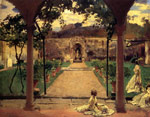 7507 At Torre Galli: Ladies in a Garden, 1910	 Art Reproductions