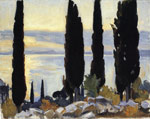 0 Cypress Trees at San Vigilio, 1907 Art Reproductions