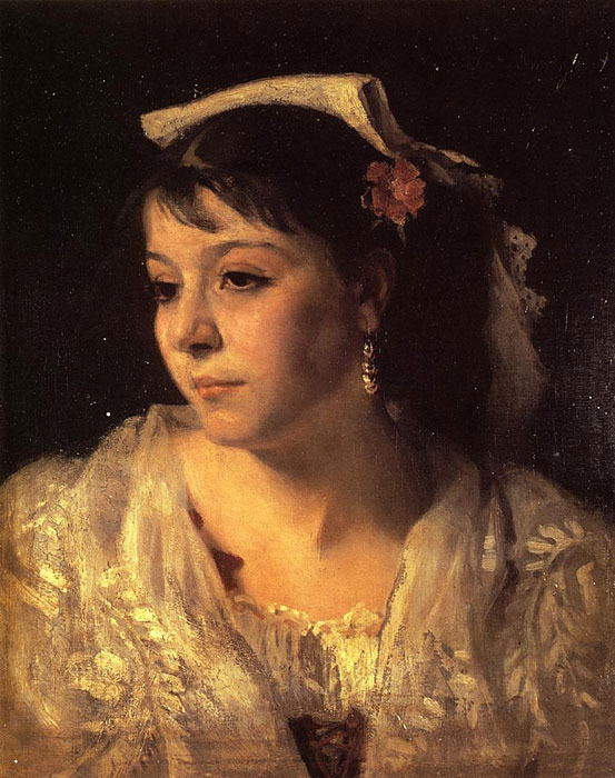 Head of an Italian Woman , 1878  Painting Reproductions