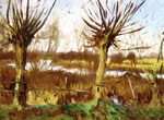 0 Landscape with Trees, Calcot , 1888	 Art Reproductions