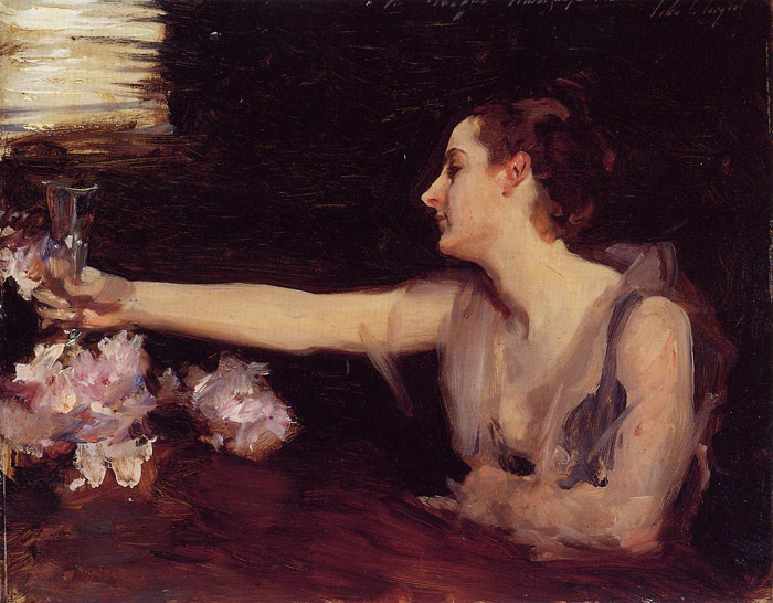 Madame Gautreau Drinking a Toast, 1889	  Painting Reproductions