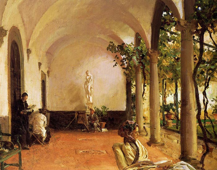 Villa Torre Galli: The Loggia , 1910	  Painting Reproductions