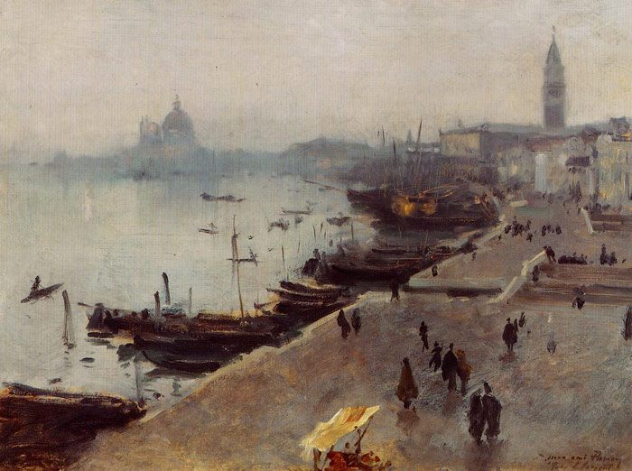 Venice in Gray Weather , 1882	  Painting Reproductions