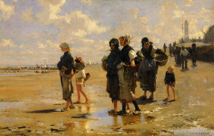 The Oyster Gatherers of Cancale , 1878	  Painting Reproductions