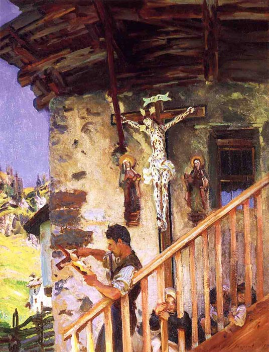 A Tyrolese Crucifix, 1915  Painting Reproductions
