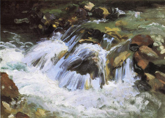 A Mountain Stream, Tyrol, 1914  Painting Reproductions
