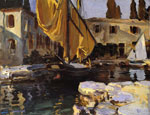 Sargent, John Singer Boat with The Golden Sail, San Vigilio,1913 Art Reproductions