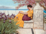 Godward, John William Under the Blossom that Hangs on the Bough', 1917 Art Reproductions