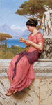 Godward, John William Le Billet Doux [The Love Letter], 1913 Art Reproductions