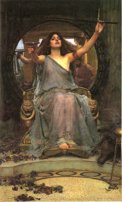 Circe offering the Cup to Ulysses, 1891  Painting Reproductions