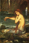 Waterhouse, John William A Mermaid, 1901 Art Reproductions