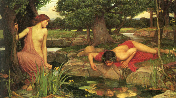 Echo and Narcissus, 1903 Waterhouse, John William Painting Reproductions