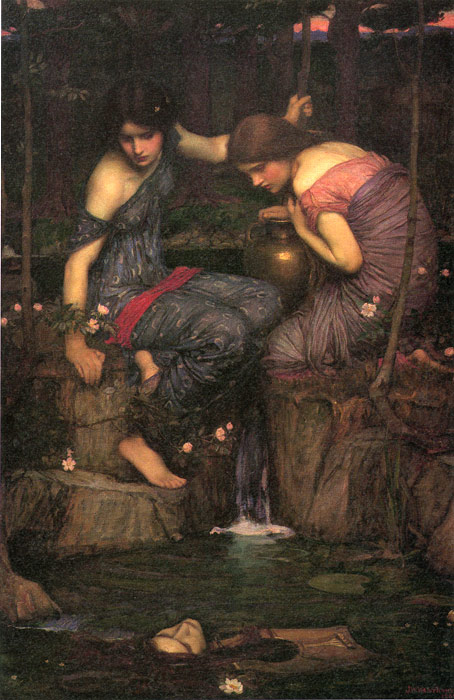 Nymphs Finding the Head of Orpheus, 1900  Painting Reproductions