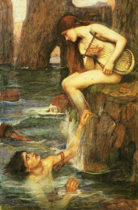 The Siren, c.1900  Painting Reproductions