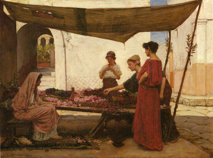A Grecian Flower Market, 1880  Painting Reproductions