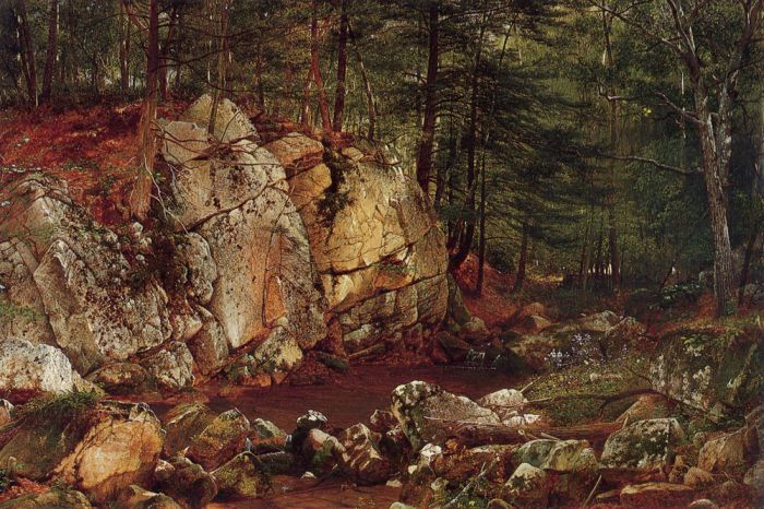 Brook Study at Warwick, 1873  Painting Reproductions