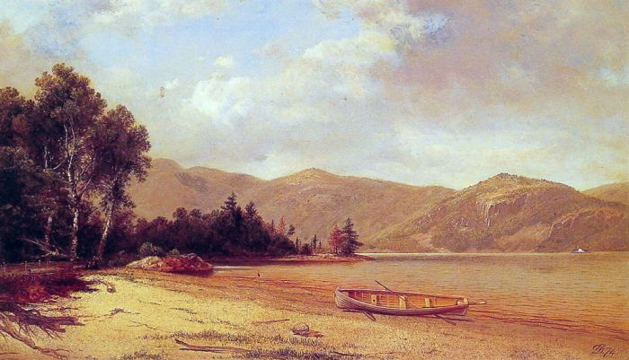View of Dresden, Lake George , 1874 Johnson, David Painting Reproductions