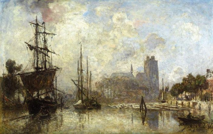 The Port of Dordrecht, 1869  Painting Reproductions
