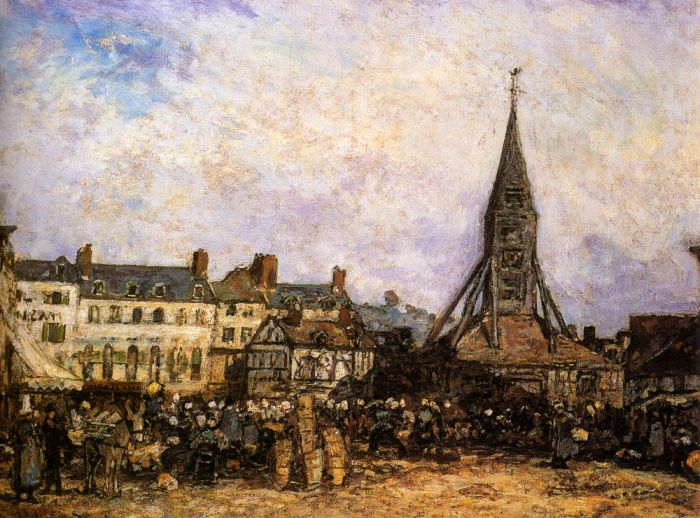 The Market At Sainte - Catherine, Honfleur , 1865  Painting Reproductions
