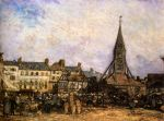 4276  The Market At Sainte - Catherine, Honfleur , 1865 Art Reproductions