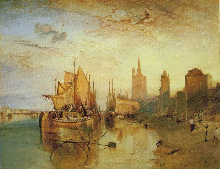 Cologne:The Arrival of a Packet Boat, 1826  Painting Reproductions