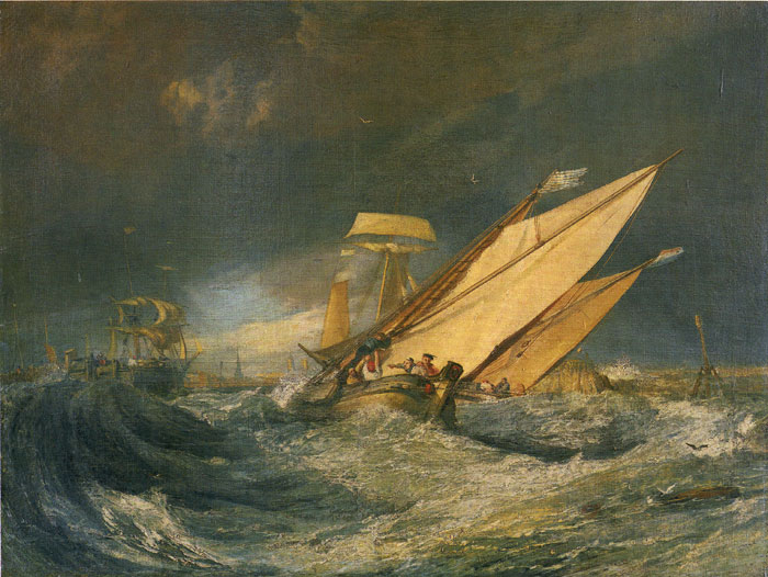 Fishing Boats Entering Calais Harbor, 1803  Painting Reproductions