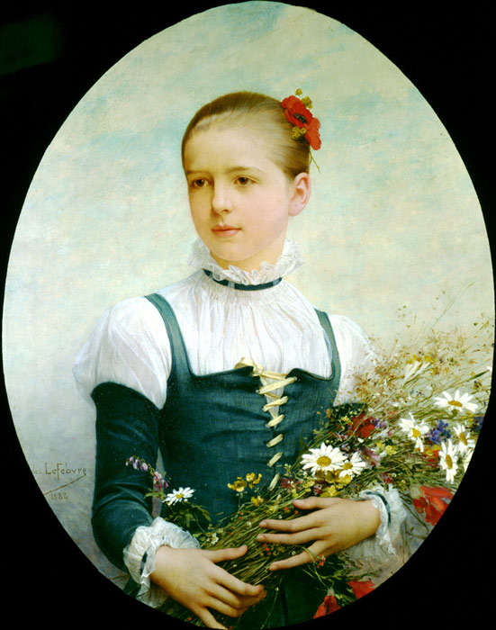 Portrait of Edna Barger of Connecticut, 1884  Painting Reproductions