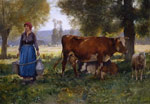 Dupre, Julien Laitiere [Milkmaid] Art Reproductions