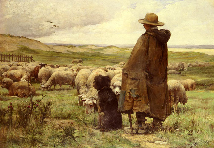 Le Berger [The Shepherd]  Painting Reproductions