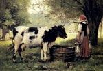 Dupre, Julien The Milkmaid Art Reproductions