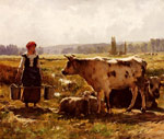 Dupre, Julien La Laitiere [The Milkmaid] Art Reproductions