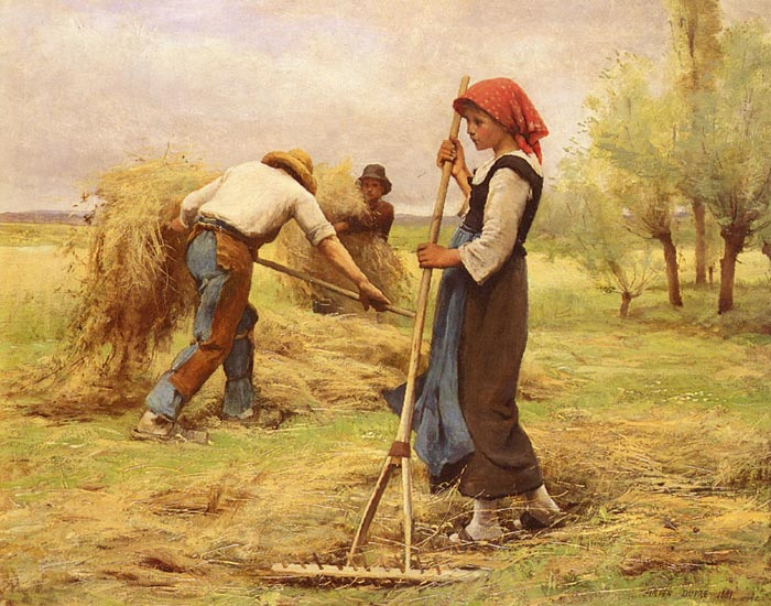 La Recolte Des Foins [The Harvesting of the Hay], 1881  Painting Reproductions