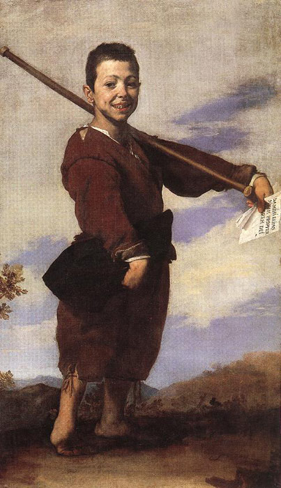 Clubfooted Boy,  1642  Painting Reproductions