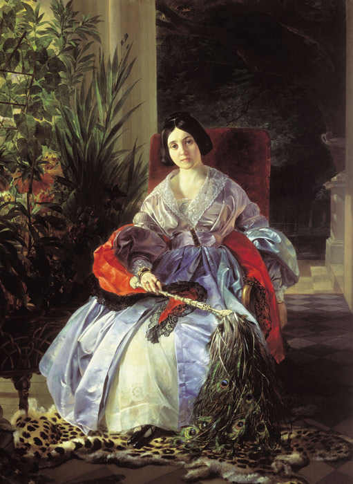 Portrait of Royal Princess Elizabet Pavlovna Saltakova, 1841  Painting Reproductions