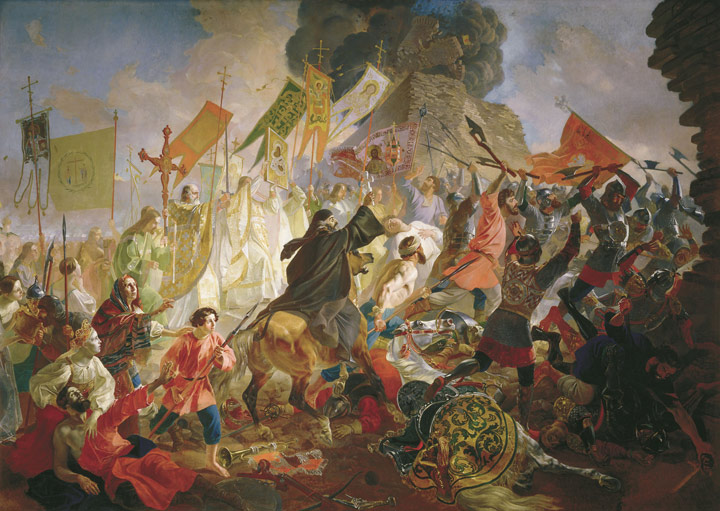 The Battle of Polish King  Steven Batoriem in 1581, 1843  Painting Reproductions