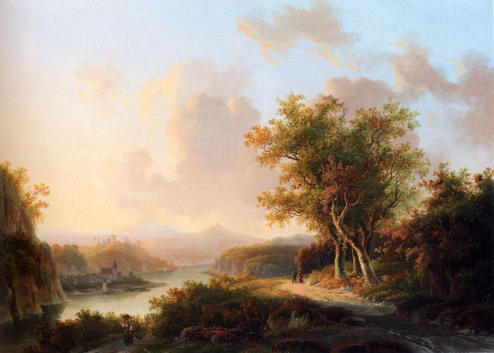 A Rhenish Summer Landscape  Painting Reproductions