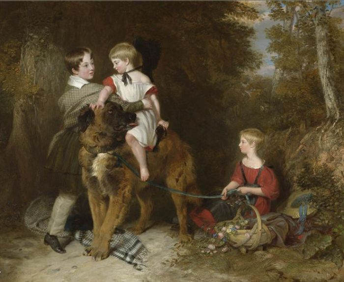 Portrait of the children of Rev. Edward Coleridge  Painting Reproductions