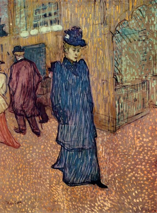 Jane Avril Leaving the Moulin Rouge, 1892  Painting Reproductions