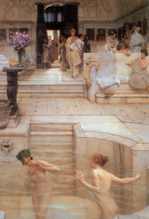 A Favorite Custom, 1909 Alma-Tadema,Sir Lawrence Painting Reproductions