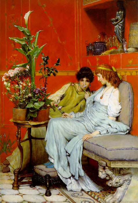 Confidences, 1869  Painting Reproductions
